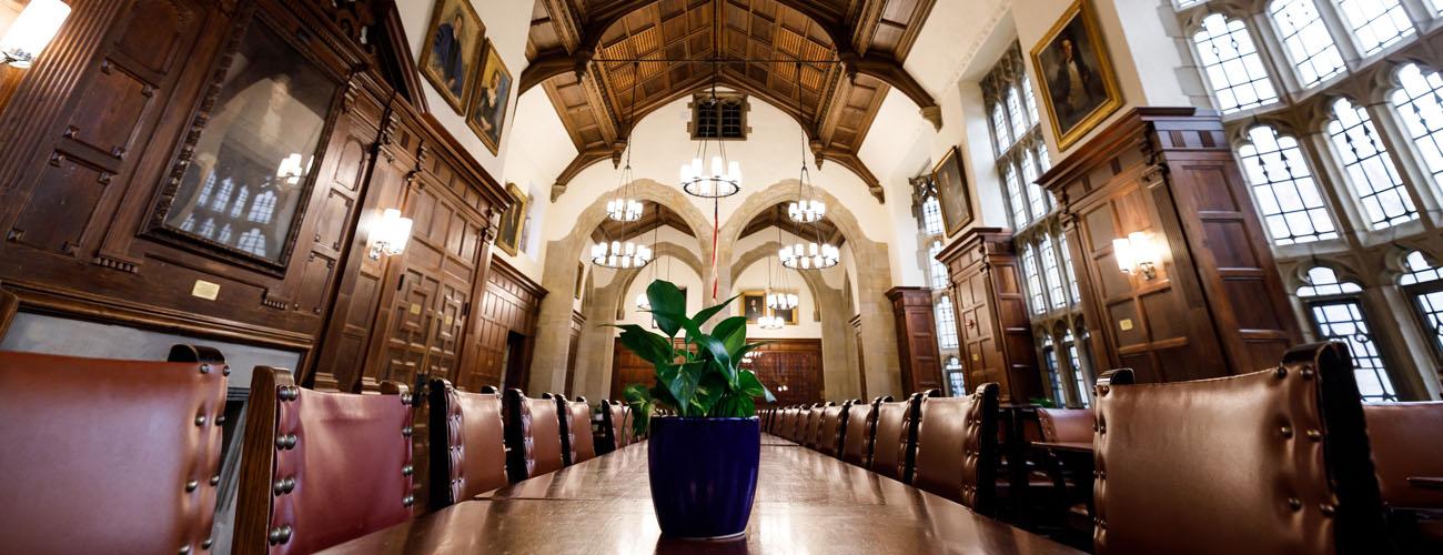 Interior of dining hall.